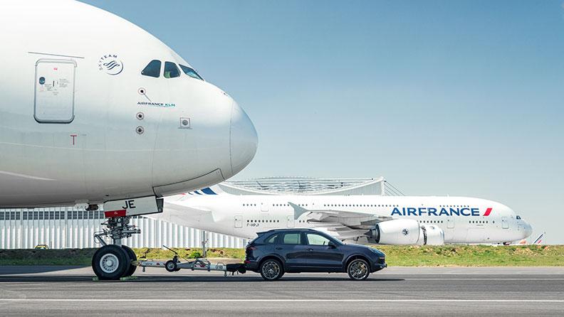 保时捷卡宴任性拖动法航空客A380