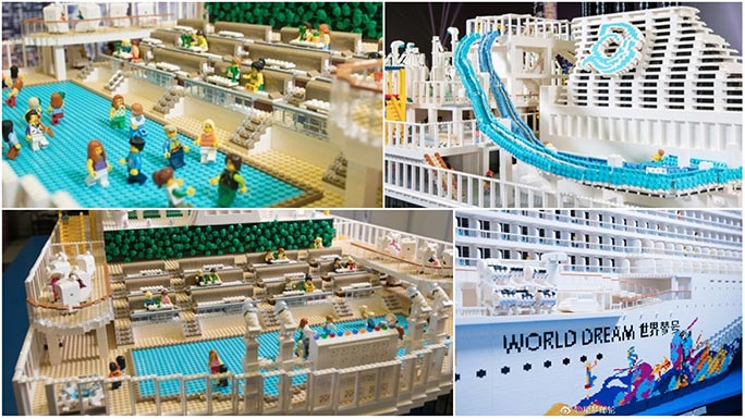 Largest LEGO ship collage