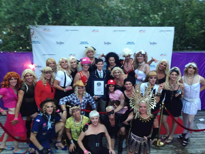 Largest gathering of people dressed as Madonna