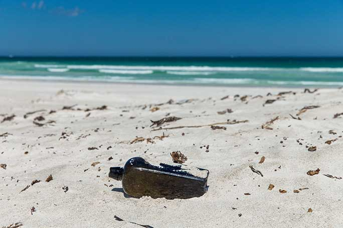 Oldest message in a bottle Australia