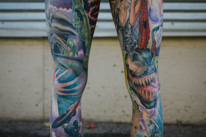 zMost Marvel tattoos on the body 7