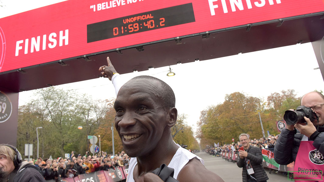 Eliud Kipchoge has run the fastest marathon distance with a time of 1 hour 59 minutes 40 seconds